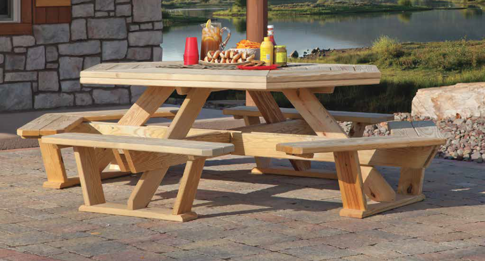 King Tables Picnic Dining Table